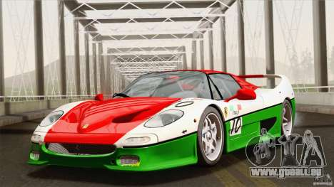 Ferrari F50 v1.0.0 Road Version pour GTA San Andreas vue de dessous