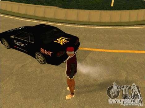 Métal Drift vinyle pour GTA San Andreas laissé vue