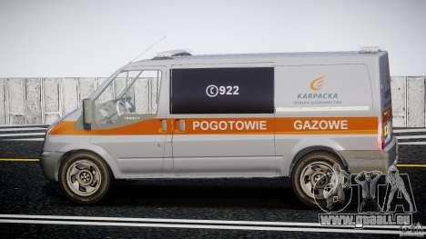 Ford Transit Usluga polski gazu [ELS] für GTA 4 linke Ansicht