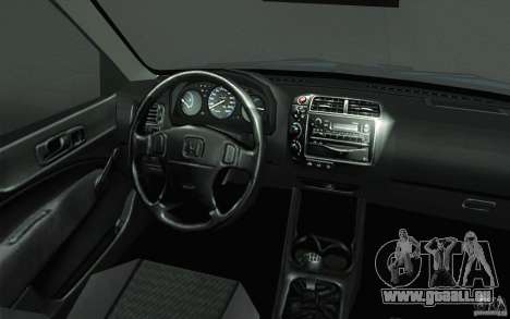 Honda Civic EK9 JDM v1.0 pour GTA San Andreas vue de dessus