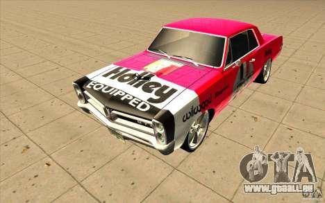 Pontiac GTO 1965 NFS Pro Street nouveaux vinyls pour GTA San Andreas