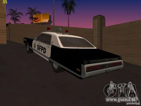 Chrysler New Yorker Police 1971 für GTA San Andreas linke Ansicht
