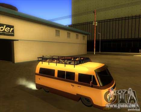 Volkswagen Kombi Classic Retro für GTA San Andreas Rückansicht