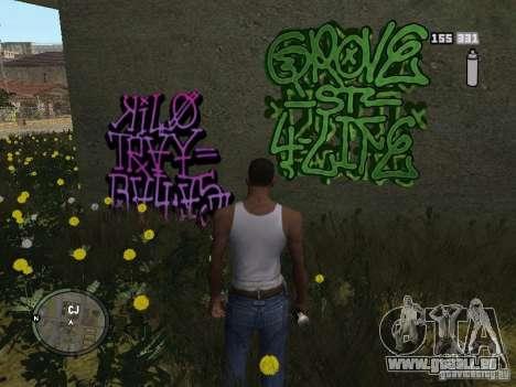 My Gang Tags pour GTA San Andreas deuxième écran