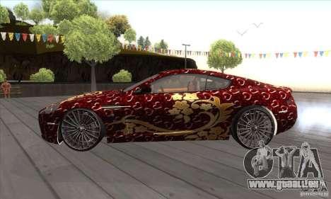 Aston Martin DB9 Female Edition pour GTA San Andreas laissé vue