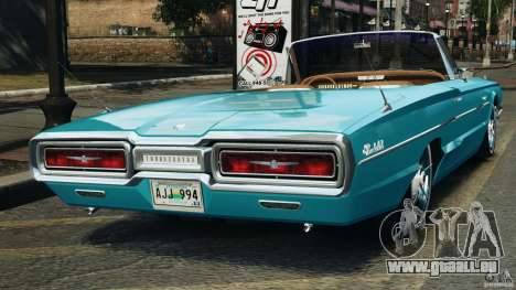 Ford Thunderbird Light Custom 1964-1965 v1.0 für GTA 4 hinten links Ansicht