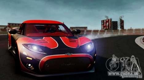 Spyker C8 Aileron Spyder Final pour GTA 4 est un droit