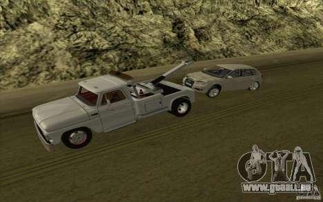 Chevrolet dépanneuse pour GTA San Andreas vue arrière
