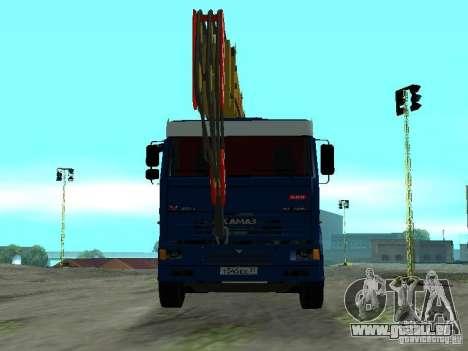 KAMAZ 65117 Ivanovets pour GTA San Andreas vue arrière