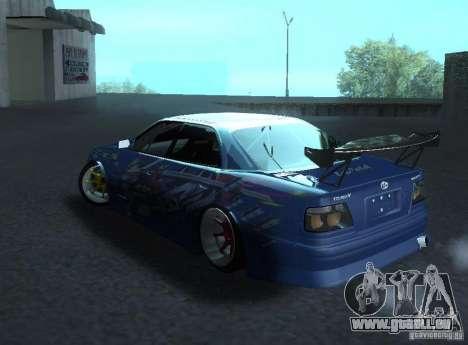 Toyota Chaser JZX100 Weld pour GTA San Andreas sur la vue arrière gauche