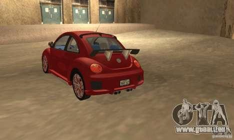 Volkswagen Bettle Tuning pour GTA San Andreas sur la vue arrière gauche