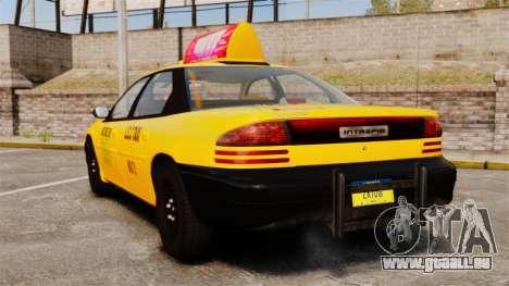 Dodge Intrepid 1993 Taxi pour GTA 4 Vue arrière de la gauche
