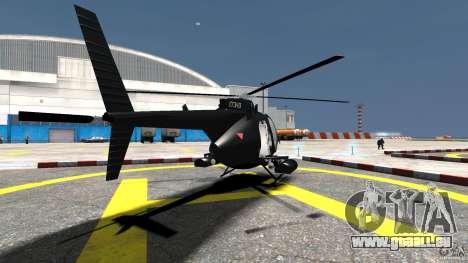 AH-6 LittleBird Helicopter pour GTA 4 Vue arrière de la gauche