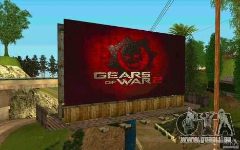 Werbetafeln In GEARS OF WAR für GTA San Andreas