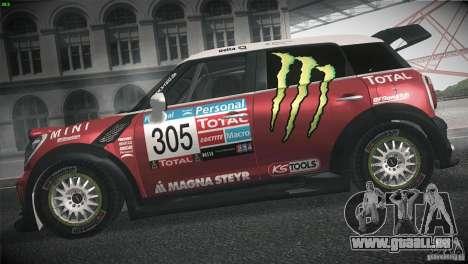 Mini Countryman WRC pour GTA San Andreas laissé vue