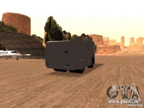 Eine Polizei-Wasserwerfer Rosenbauer v2 für GTA San Andreas rechten Ansicht