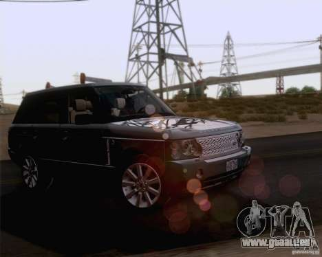 Land Rover Range Rover Supercharged 2008 für GTA San Andreas obere Ansicht