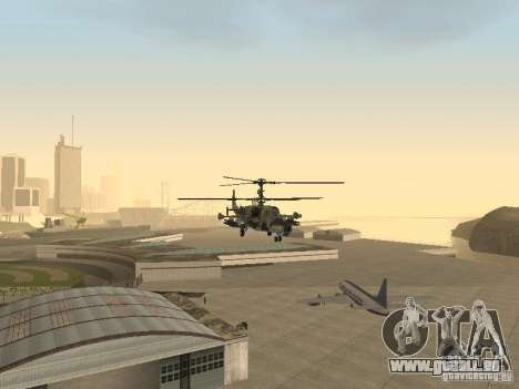 KA-50 Black Shark pour GTA San Andreas vue intérieure