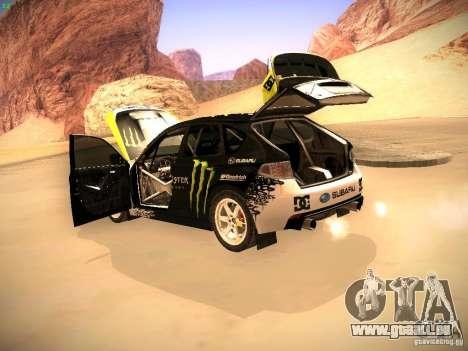 Subaru Impreza Gymkhana für GTA San Andreas Innenansicht