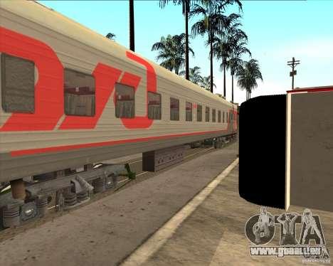 Voiture de tourisme RZD pour GTA San Andreas vue arrière