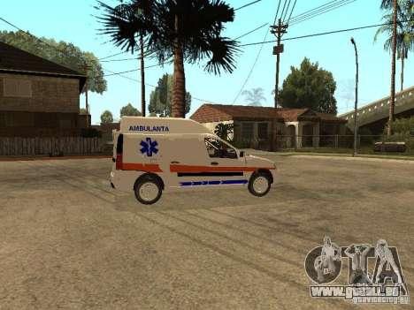 Dacia Logan Ambulanta pour GTA San Andreas vue arrière