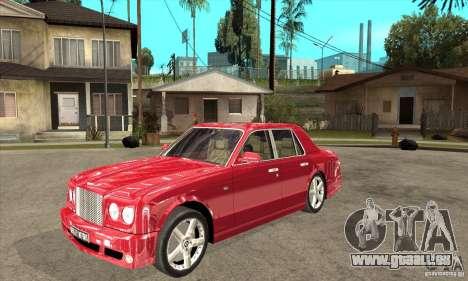 Bentley Arnage T pour GTA San Andreas laissé vue
