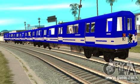 Liberty City Train Sonic pour GTA San Andreas sur la vue arrière gauche