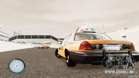 Ford Crown Victoria 2003 NYC Taxi pour GTA 4 Vue arrière de la gauche