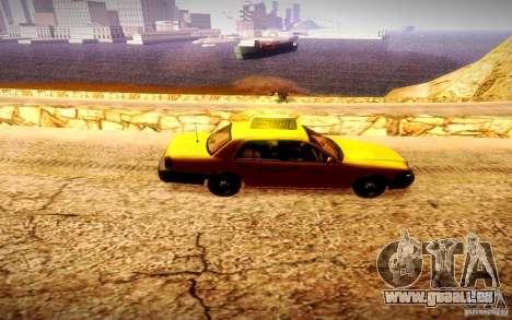 Ford Crown Victoria TAXI 2003 pour GTA San Andreas laissé vue