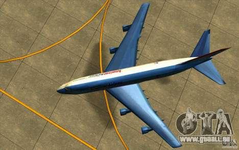 B-747 American Airlines Skin pour GTA San Andreas vue arrière