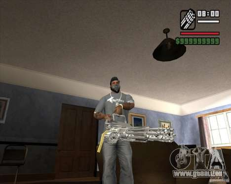 Chrome Minigun pour GTA San Andreas