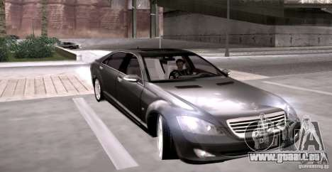 Mercedes-Benz S600 v12 für GTA San Andreas Rückansicht