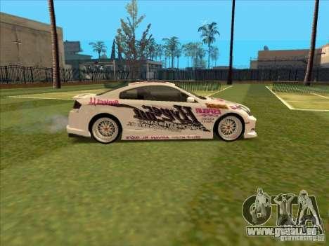 Infiniti G35 Top Secret pour GTA San Andreas vue arrière