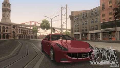 Ferrari FF 2011 V1.0 pour GTA San Andreas vue de dessus