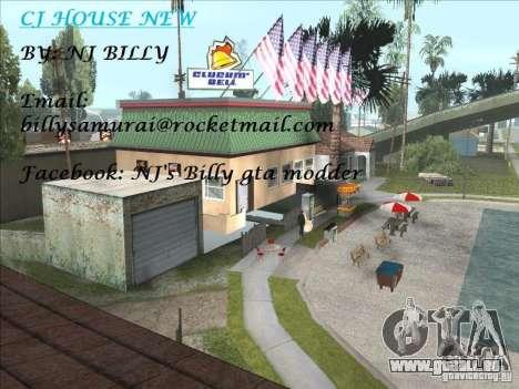 CJ house cleo pour GTA San Andreas deuxième écran