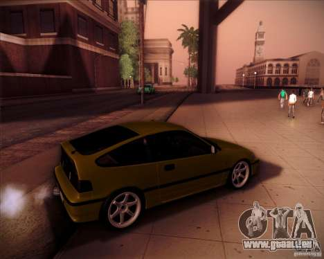 Honda Civic CRX JDM pour GTA San Andreas salon