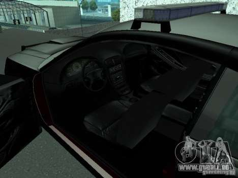 Ford Mustang GT Police für GTA San Andreas zurück linke Ansicht