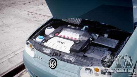 Volkswagen Golf IV R32 pour GTA 4 est une vue de l'intérieur