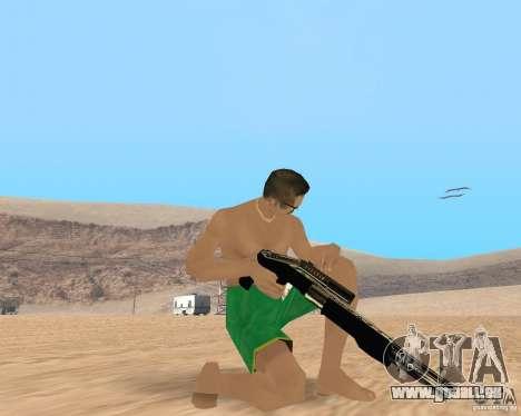 Gold weapons pack pour GTA San Andreas troisième écran