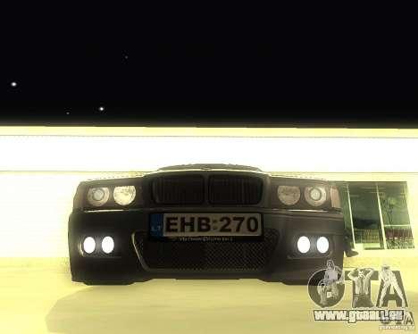 BMW 740i Update pour GTA San Andreas laissé vue