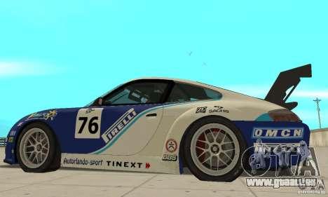 Porsche 911 Le GRID pour GTA San Andreas sur la vue arrière gauche