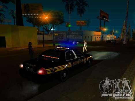 Ford Crown Victoria Erie County Sheriffs Office für GTA San Andreas obere Ansicht