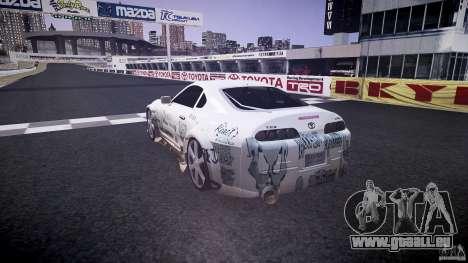 Toyota Supra ProStreet Style pour GTA 4 Vue arrière de la gauche