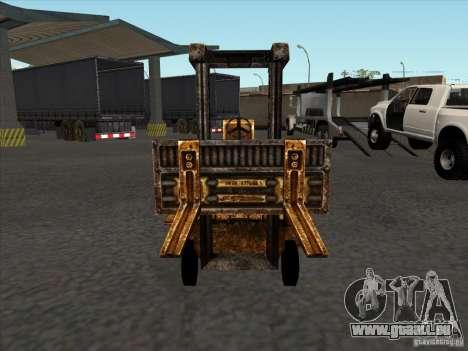 Chariot élévateur du TimeShift pour GTA San Andreas vue arrière