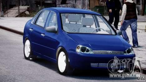 Kalina Vaz-1118 pour GTA 4 Vue arrière