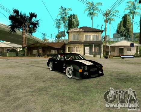 Hotring Racer Tuned pour GTA San Andreas laissé vue