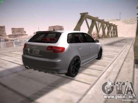 Audi RS3 2011 für GTA San Andreas Rückansicht
