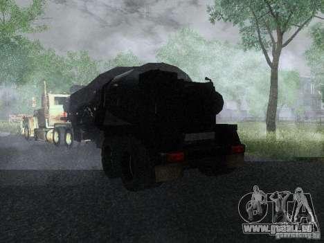 Anhänger gepanzerten Mack Fuel Truck Titan für GTA San Andreas zurück linke Ansicht
