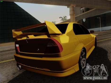 Mitsubishi Lancer Evolution VI pour GTA San Andreas vue intérieure