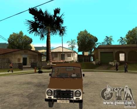 LuAZ-13021-04 für GTA San Andreas Rückansicht
